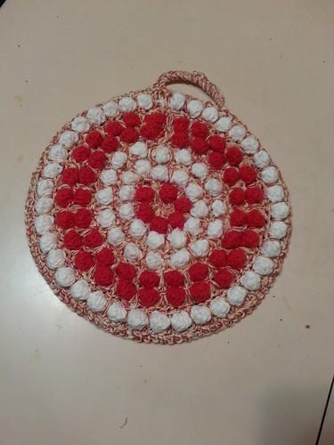 bobble stitch pot holder