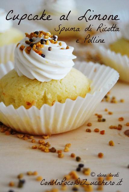 Cupcake al limone e polline