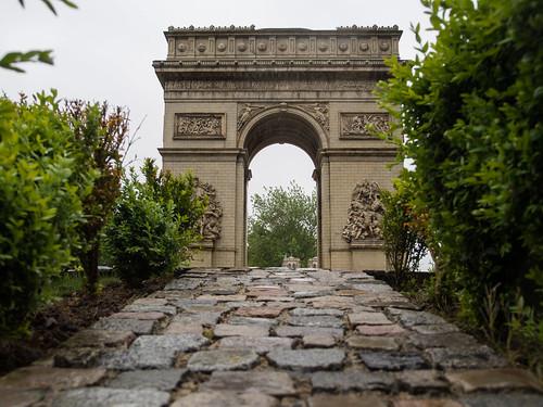 Paris, l'arc de triomphe de l'Étoile