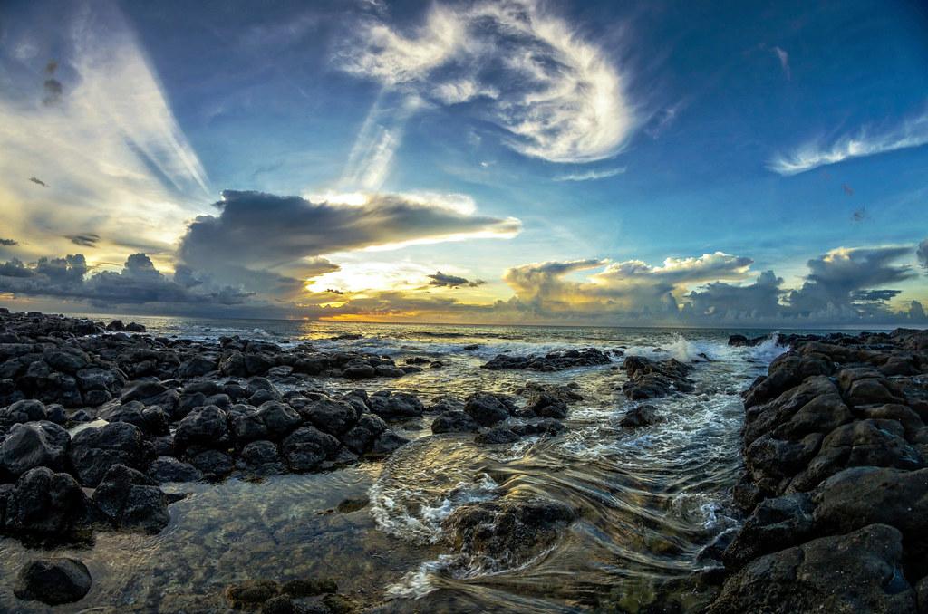 Wrinkled rocks ...Sunset