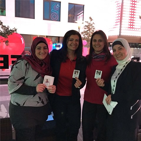 Adla Chatila, Sukaina Al-Nasrawi, Nisreen Deeb, Maysoun Ibrahim, TechWomen 2015