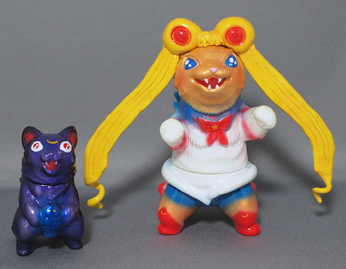 Custom Sailor Moon Negora with Luna