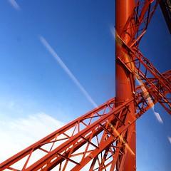 A bit of the #bridge... never can resist those #colours... #forthbridge #edinburgh #scotland