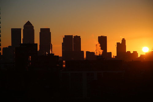 Sunrise in Wapping, London
