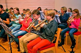 Stor kornettsiketion i Framåt Brassbandet