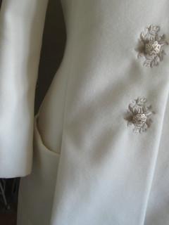 Manteau Blanc Cassé