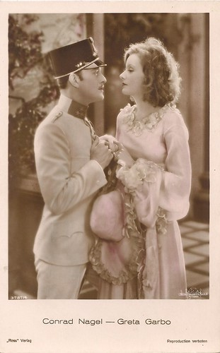 Greta Garbo and Conrad Nagel in The Mystrerious Lady (1928)