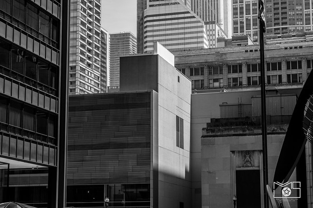 Chicago Daley plaza view bnw