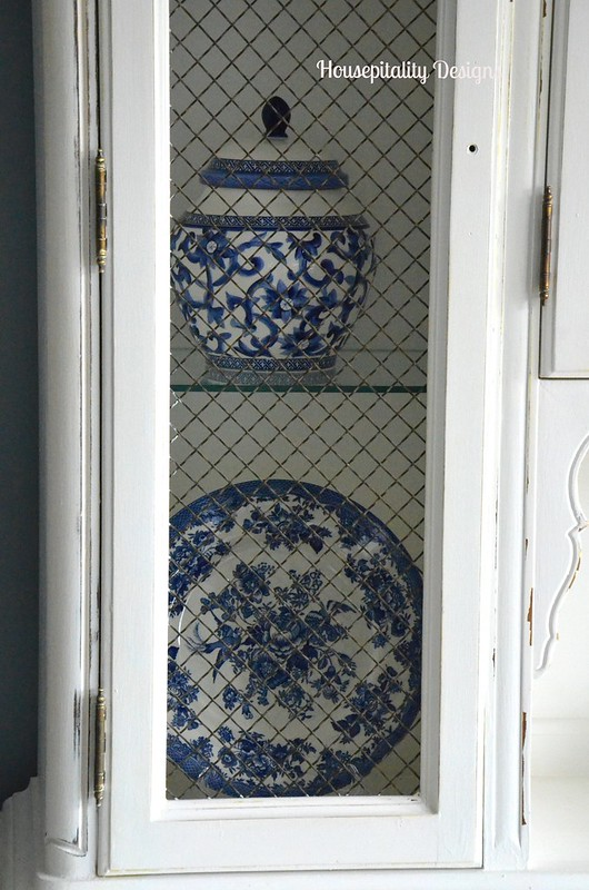 Guest Room Hutch/Blue and white ceramic-Housepitality Designs