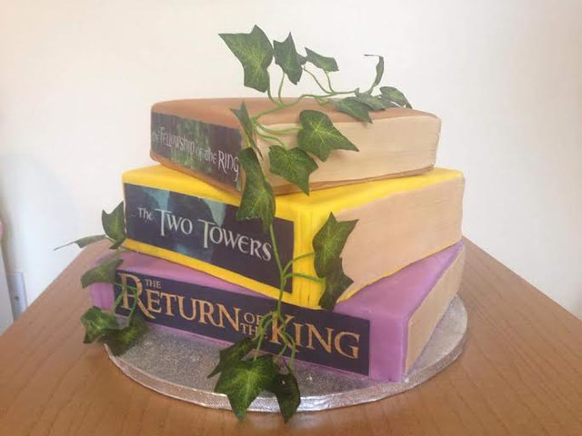 Lord of the Rings Themed Wedding Cake by Mrs Muffins Cakery