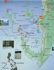 El Nido tourist map