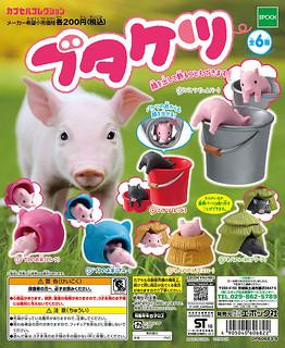 三隻小豬是你們嗎?!EPOCH【露屁股的可愛小豬】療癒轉蛋作品再推薦!!ブタケツ