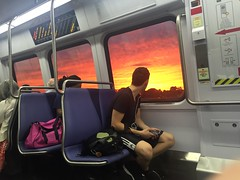 Sunset from Metro