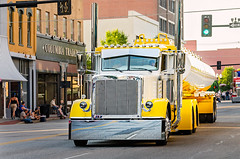 Rethwisch Transport's 2016 Peterbilt 386 with 2015 Mueller tank trailer at the Shell Rotella SuperRigs parade in downtown Joplin Missouri