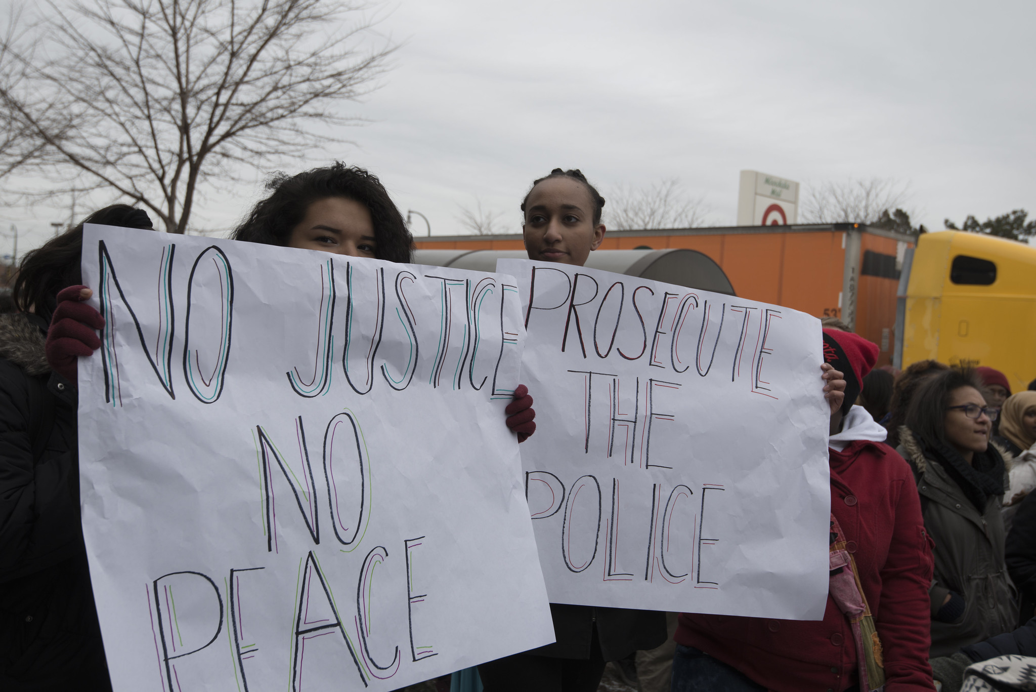 Minneapolis South High School protests the Ferguson grand jury ruling on the Michael Brown killing