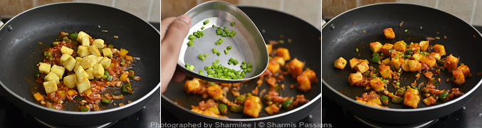 How to make schezwan chilli paneer - Step4