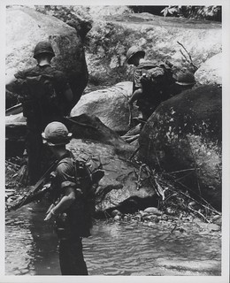 Marines in River near Hill 479, August 1967