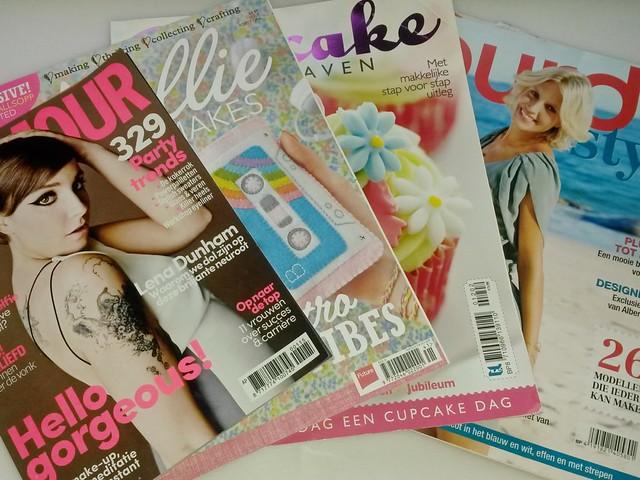Favo tijdschriften: Glamour, Mollie Makes, Burda, Cupcake Heaven ~ CherryCharlie.nl