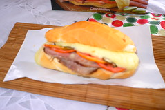 sandwich, meal, lunch, breakfast, junk food, ham and cheese sandwich, meat, food, dish, fast food,