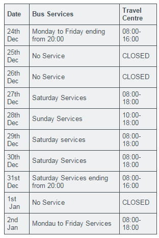 Bus Services this Christmas   Plymouth Citybus