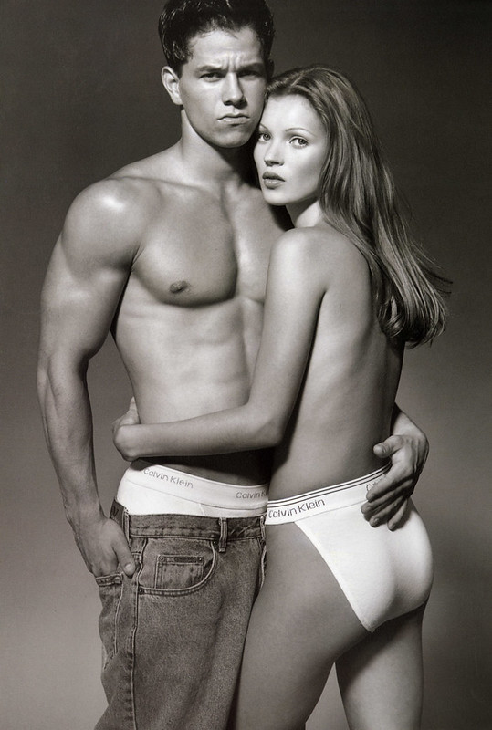 Marky Mark and Kate Moss