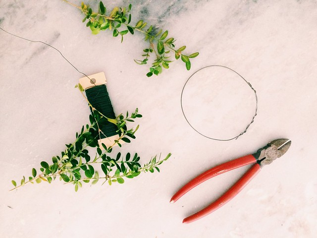 Miniature Boxwood Wreaths {DIY}