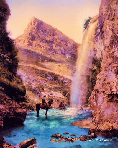 art photomanipulation photoshop painting landscape waterfall russia digitalart oilpainting topaz kislovodsk northcaucasus digitalartist topazadjust topazdenoise topazdejpeg topazdetail stavropolkrai topazclarity topazlenseffects topazrestyle charleswbailey charleswbaileyjr topazimpression