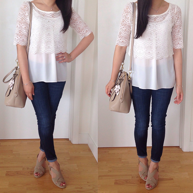 UO cropped lace top
