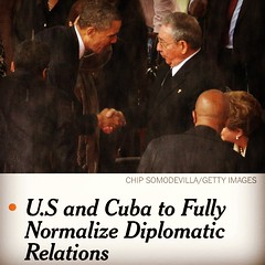 US restores relations w Cuba. Obama in full Senior Spring mode.