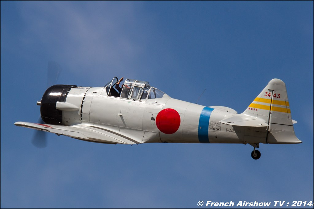North American AT-6B Texan Zero, F-AZRO,T-6 zero, Meeting des 60 ans de l'ALAT 2014 ,Cannet des Maures