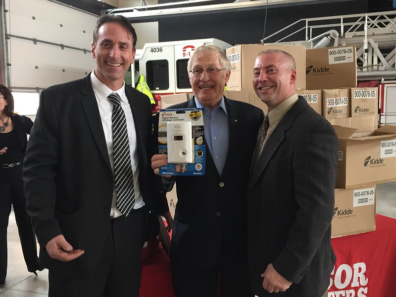 Firefighters Association Donates CO Alarms to Windsor Fire