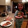 We made gingerbread cookies !