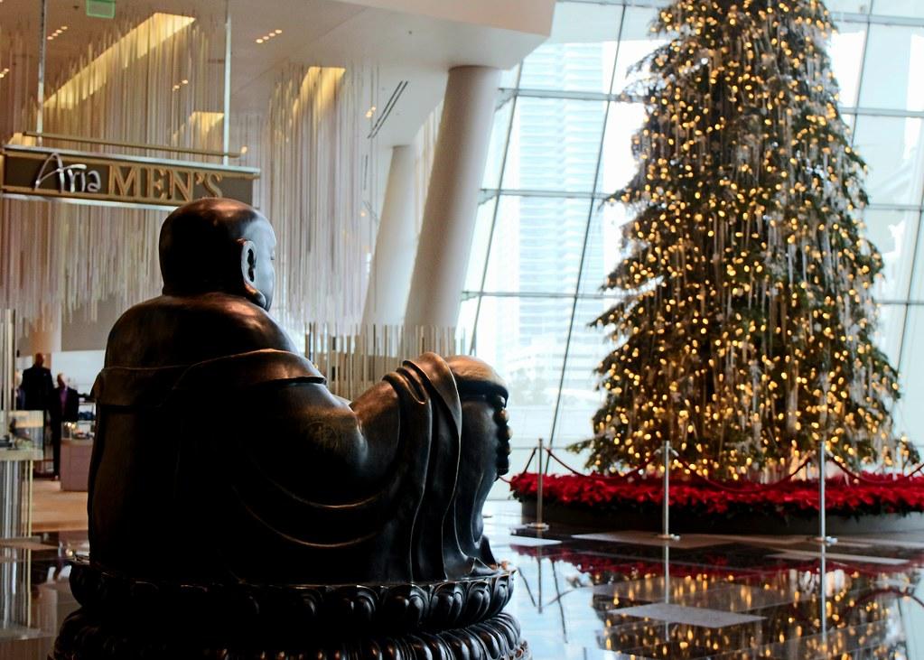 Buddha @ Christmas Tree