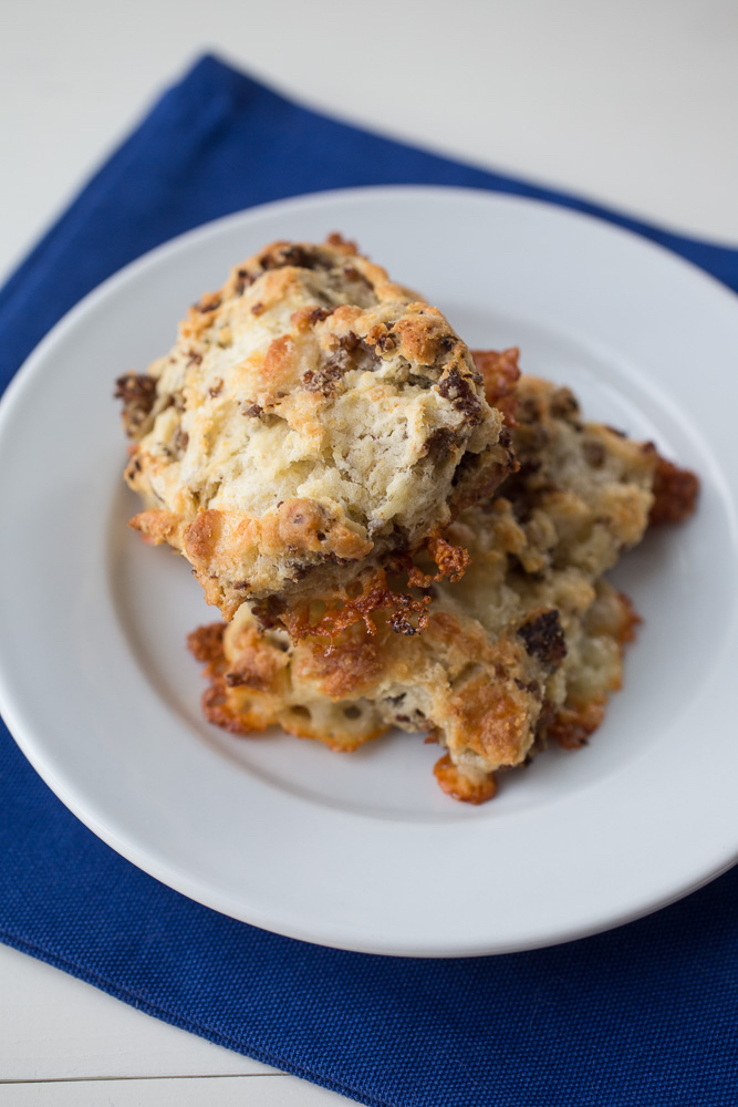 Sausage and Sharp Cheddar Biscuits