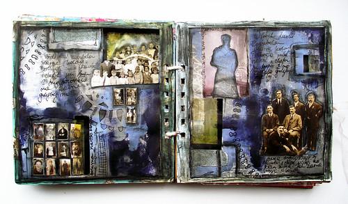 loosing colours - art journal