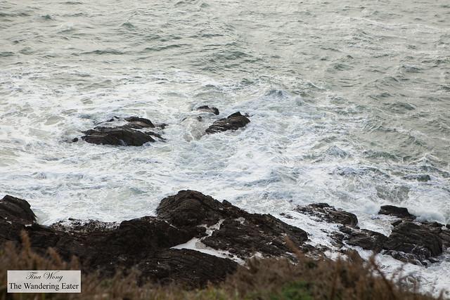 Rough sea near the Coast Path