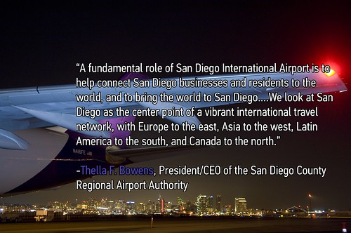 Airport Image with Quote