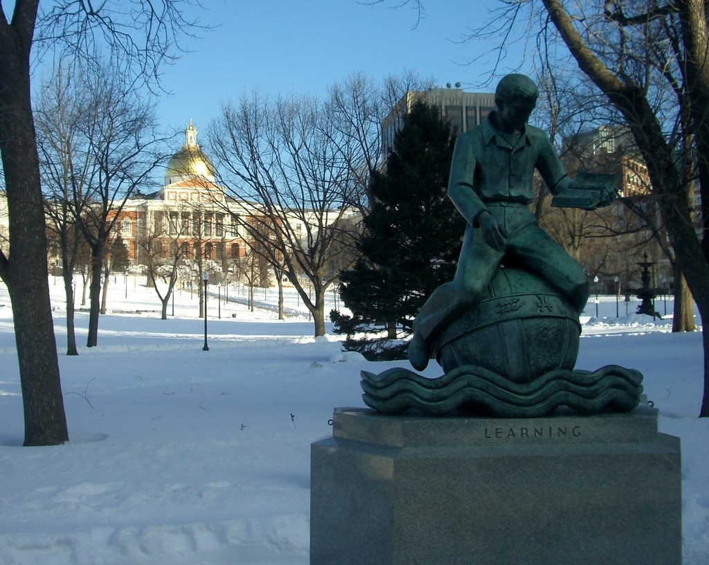 Boston Common Dome and Learning Statue