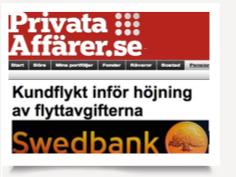 Kundflykt från Swedbank