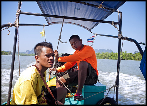Longtail Boat Boys in Phang Nga Bay