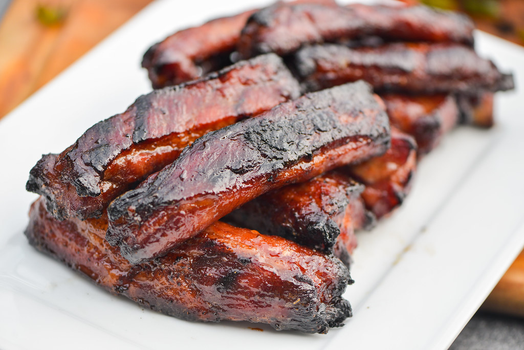 Grilled Chinese Char Siu Spare Ribs Recipe The Meatwave