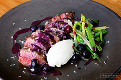 20150201-42-Hanger steak with blueberry sauce and…