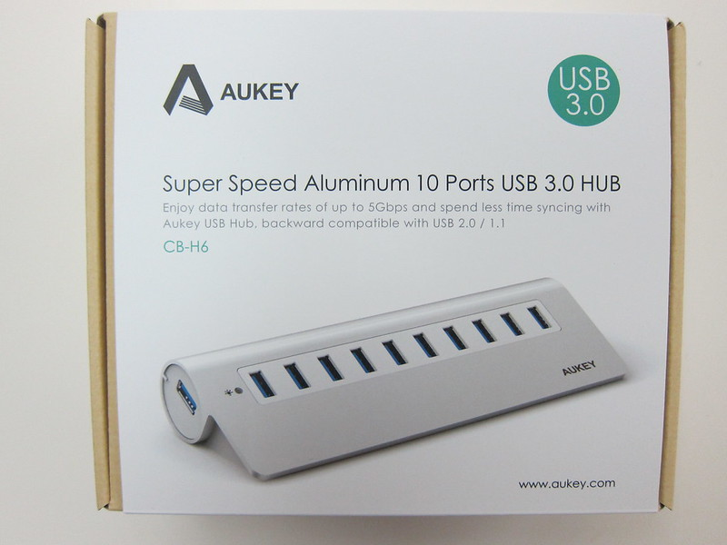 Aukey 10-Port USB 3.0 Hub - Box Front