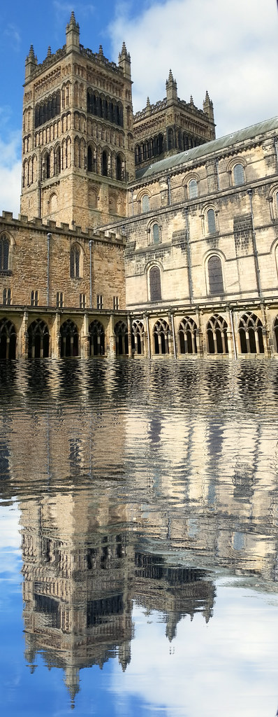 Durham Cathedral West Towers Reflection