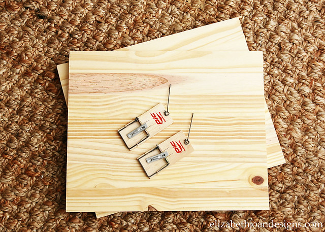 Mouse Trap Wood Photo Holder