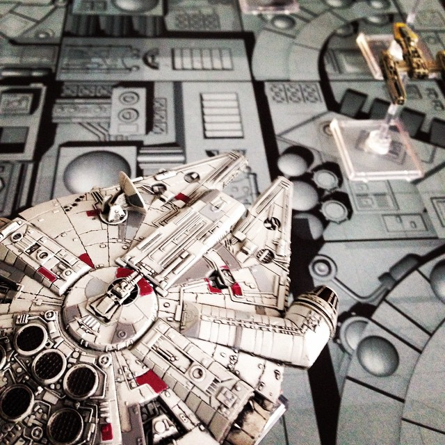 The dining room table is now the Death Star. #x-wing #starwars