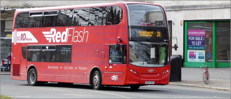 Plymouth Citybus 517 WG63HHW