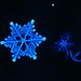 Neon Blue Snowflake by CaptPiper