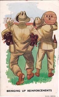 WW2 era comic postcard from Australia