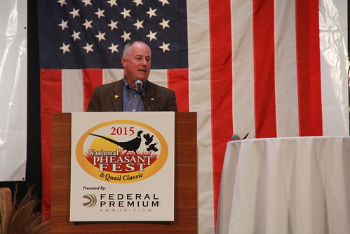 FSA Administrator Val Dolcini speaks at the 2015 National Pheasant Fest and Quail Classic.